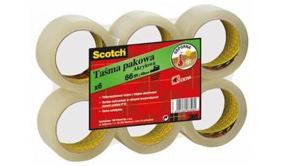 Taśma pakowa 3M Scotch akrylowa przeźroczysta 50mm x 66m (6szt) S5066F6