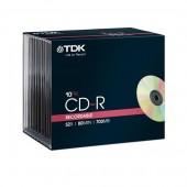 Płyta CD-R TDK 700MB slim (10szt)