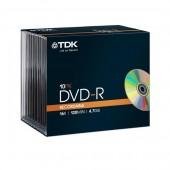 Płyta DVD-R TDK 4,7GB Slim (10szt)