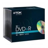 Płyta DVD+R TDK 4,7GB Slim (10szt)