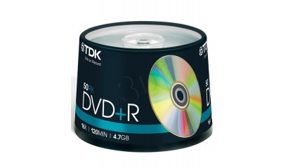 Płyta DVD+R TDK 4,7GB cake (50szt)