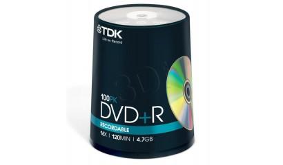 Płyta DVD+R TDK 4,7GB cake (100szt)