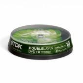 Płyta DVD+R DoubleLayer TDK 8,5GB cake (10szt)