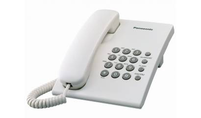 Telefon przewodowy PANASONIC KX-TS500PDW biały
