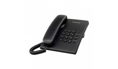 Telefon przewodowy PANASONIC KX-TS500PDB czarny