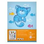 Blok rysunkowy TOP-2000 Creatinio A4 / 10 kartek 80g kolorowy