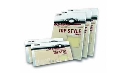 Karton wiz.TOP STYLE Linen biały A4 220g (20ark)