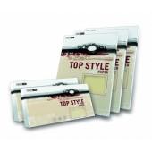 Karton wiz.TOP STYLE Linen kość słoniowa A4 250g (20ark)