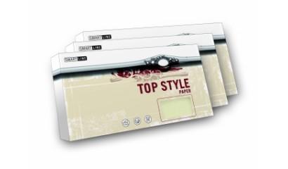 Koperta ozd.TOP STYLE Marmor biały DL 90g (20szt)