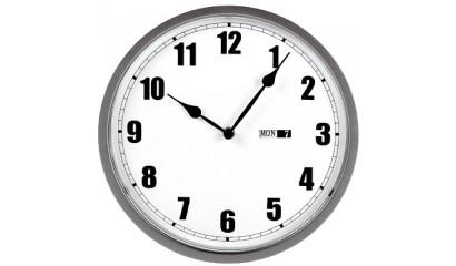 Zegar ścienny UNILUX Momento z datownikiem 30,5x2,50 U72316
