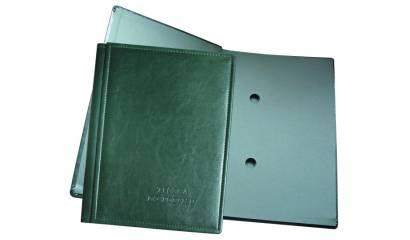 Teczka do podpisu WARTA 10 kart oprawa skóropodobna zielona 1824-920-038
