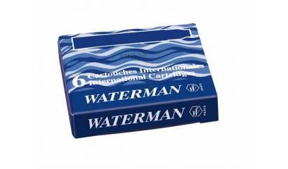 Naboje do piór WATERMAN krótkie niebieskie (6szt)
