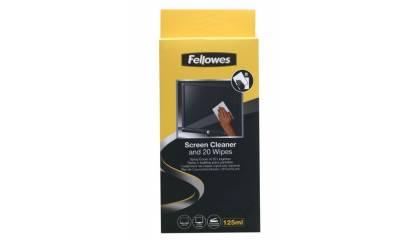 Płyn i ściereczki do czyszczenia ekranu Fellowes kpl. 99701