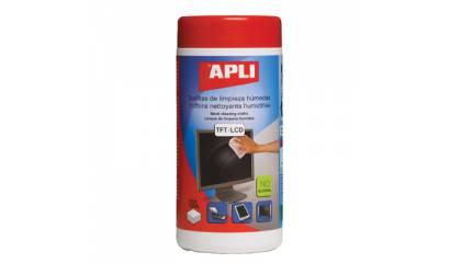 Ściereczki do czyszczenia monitorów APLI (100szt) AP11823