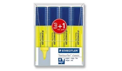 Zakreślacz STAEDTLER Textsurfer Neon żółty (4szt) 364-1P WP4