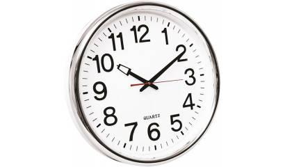 Zegar ścienny Q-CONNECT Warsaw, 37, 5cm, srebrny KF15591