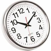 Zegar ścienny Q-CONNECT Budapest, 28cm, srebrny KF15589