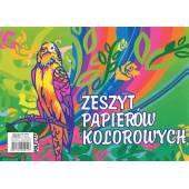 Zeszyt papierów kolorowych POLIGRAF A4/8k