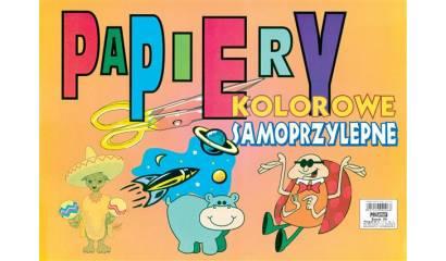 Zeszyt papierów kolorowych samoprzylepny POLIGRAF A4/8k