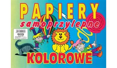 Zeszyt papierów kolorowych samoprzylepne POLIGRAF A5/8k