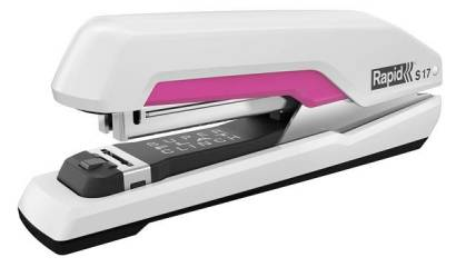 Zszywacz RAPID Supreme S17 Super FC biało-różowy 30k
