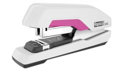 Zszywacz RAPID Supreme S50 Super FC biało-różowy 50k