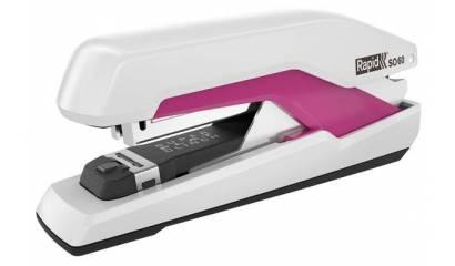 Zszywacz RAPID Supreme Omnipress™ SO60 Super FC biało-różowy 60k